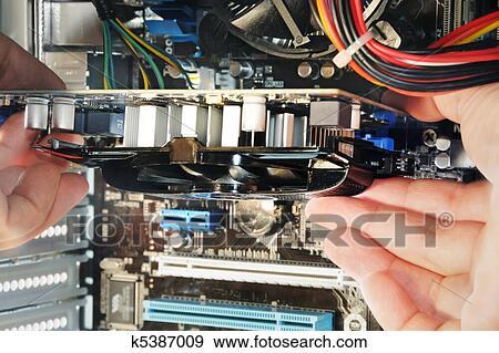 Banque de photographies ordinateur personnel montage for Ordinateur pour montage photo