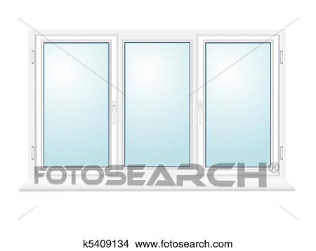 Drawings Of Closed Plastic Glass Window Illustration K5409134