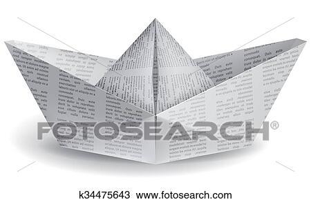 Dessin petit bateau papier k34475643 recherchez des cliparts des illustrations et des - Dessin petit bateau ...