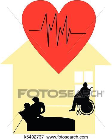 Clipart cuidado paliativo casa k5402737 busca de clip - Cuidados paliativos en casa ...