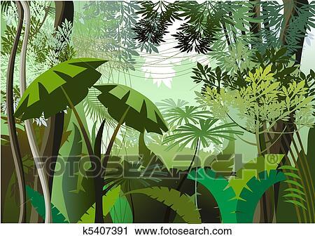 Clipart of Jungle Day k5407391 - Search Clip Art ...