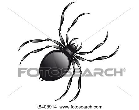 zeichnungen spinne k5408914 suche clip art illustrationen. Black Bedroom Furniture Sets. Home Design Ideas