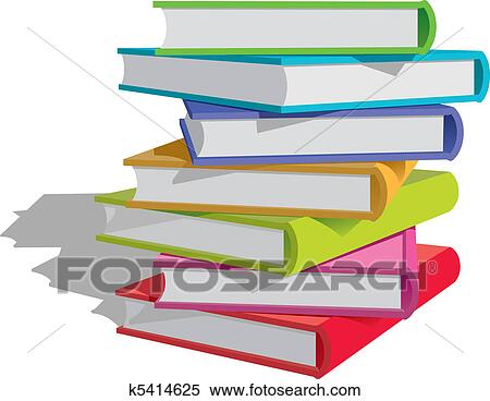 Bücherstapel clipart  Clipart - buecher, stapel k5414625 - Suche Clip Art, Illustration ...