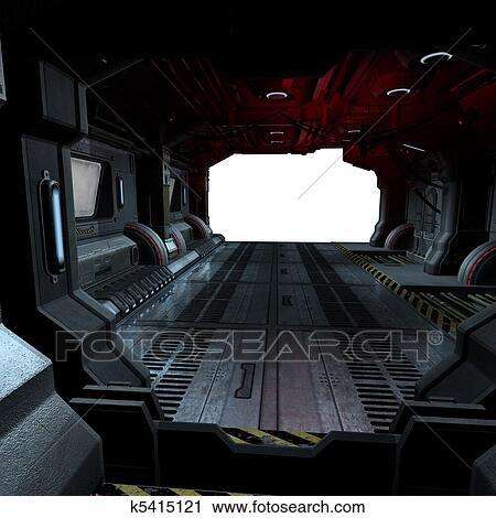 Clipart fond ou composer image int rieur a for Interieur vaisseau spatial