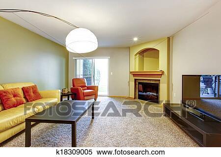 Stock bild hell kontrast farben wohnzimmer k18309005 - Wohnzimmer hell ...