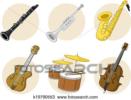 Clipart of Jazz Instruments k19790553 - Search Clip Art ...
