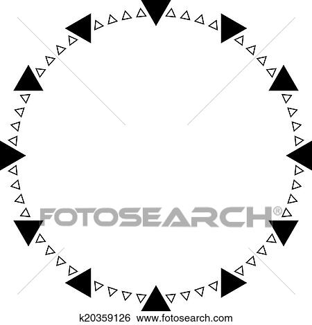 Clip Art Of Clock Dial Triangle Points On Transparency