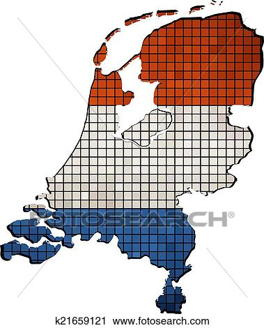 Clipart of Netherlands map grunge mosaic k21659121 Search Clip
