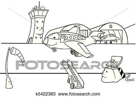 Clipart Of Airport Runway K5422383 Search Clip Art