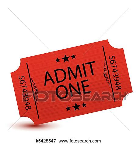 clip art of ticket k5428547 search clipart illustration posters rh fotosearch com movie ticket clip art free movie ticket pictures clip art