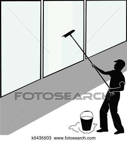 clipart of large window washer k5435503 search clip art