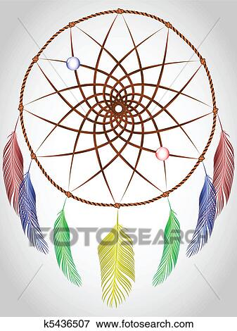 Clip art of dream catcher k5436507 search clipart for Dream catcher graphic