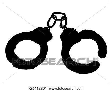 clipart of handcuffs k25412801 search clip art illustration rh fotosearch com broken handcuffs clipart broken handcuffs clipart