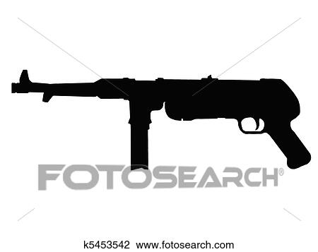 Machine Gun Graphic Ww2 Sub Machine Gun