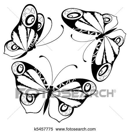 失量图库 - 美丽, 蝴蝶, 为, a, 设计
