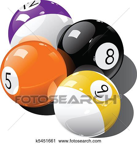 Clipart Of Pool Balls K5451661