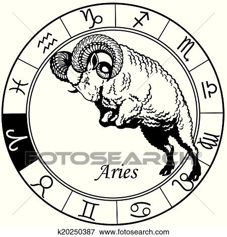 clip art of aries zodiac black white k20250387 search clipart rh fotosearch com zodiac clipart free zodiac clip art free images