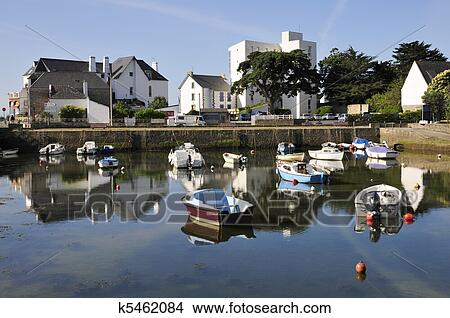stock photo of port of carnac in france k5462084 search stock images mural photographs. Black Bedroom Furniture Sets. Home Design Ideas