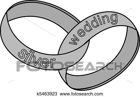 Clipart Of Silver Wedding Rings K5463923