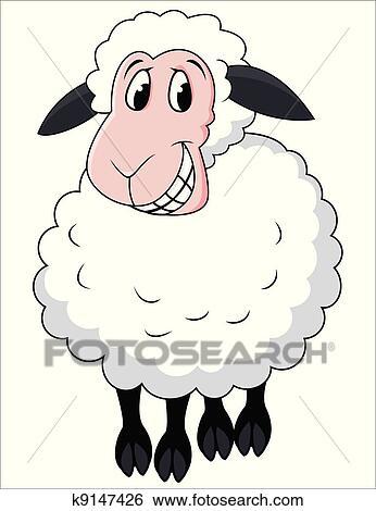 Banque d 39 illustrations sourire mouton dessin anim - Mouton dessin anime ...