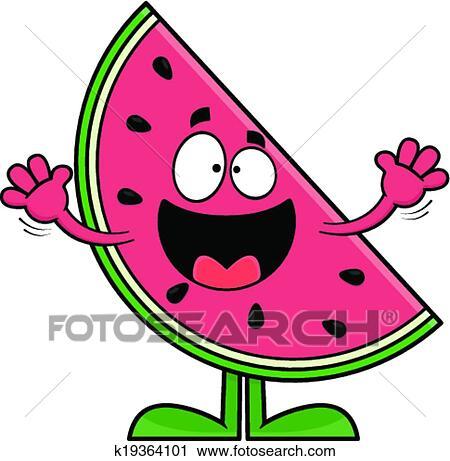 clipart of smiling cartoon watermelon k19364101 search clip art rh fotosearch com watermelon clipart free watermelon clip art by panda