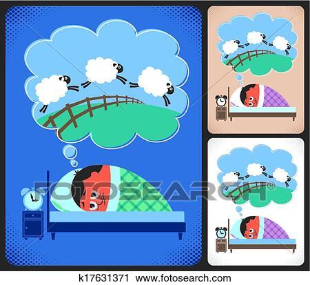 失眠痛苦的卡通图片