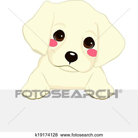 Clip Art of Labrador Puppy Banner k19174128 - Search Clipart ...