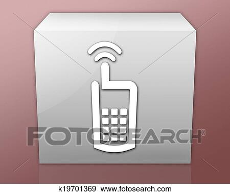 Simbolo Telefone Vetorizado Telefone Pilha Símbolo