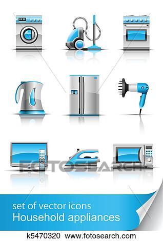 클립아트 - 가정용 기구, 벡터 k5470320 - 클립 아트 ...