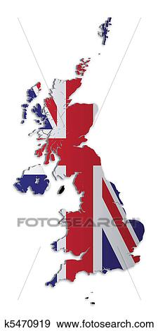 Clip Art of UK and Crown Dependencies Map k5470919 - Search ...