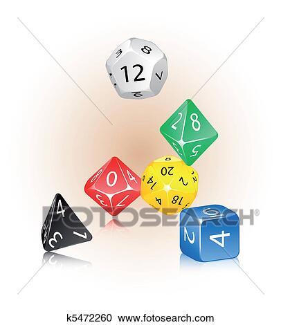 D12 dice vector