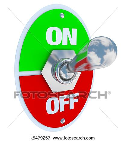 Stock Illustration of On and Off - Toggle Switch k5479257 ...