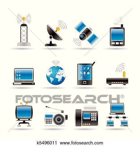 Clip Art of Wireless, communication technology k5529508 - Search ...