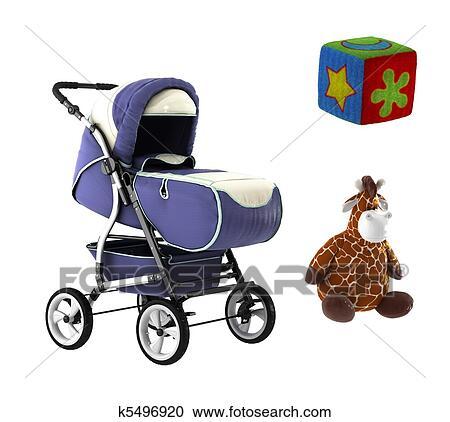 Banque d 39 illustrations poussette et jouets k5496920 - Poussette dessin ...