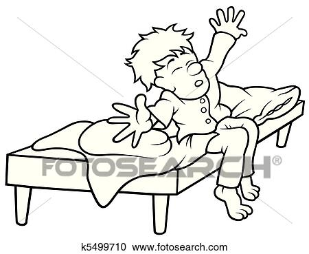 clipart aufstehen k5499710 suche clip art illustration wandbilder zeichnungen und vector. Black Bedroom Furniture Sets. Home Design Ideas