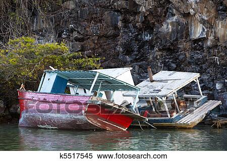 Stock Image of Shipwrecks On The Rocks k5517545 - Search Stock ...