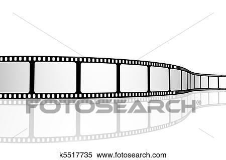 Stock illustration blank film strip fotosearch search clipart