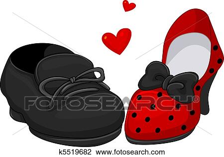 Clip Art of His and Hers Shoes k5519682 - Search Clipart ...
