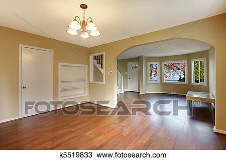 banque de photo jaune nouveau vide ouvert d ner et salle de s jour k5519833 recherchez. Black Bedroom Furniture Sets. Home Design Ideas
