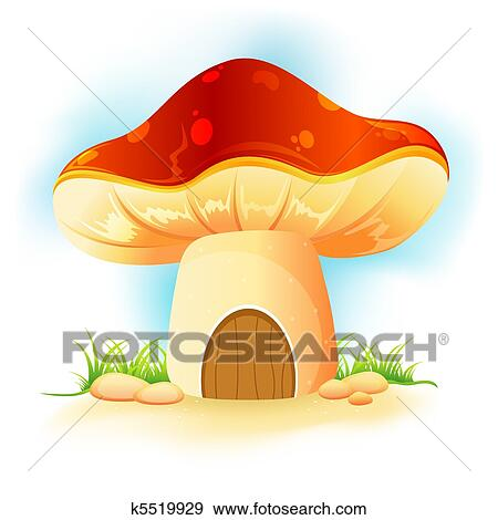 Sonnenliege clipart  Clip Art of mushroom home in garden k5519929 - Search Clipart ...