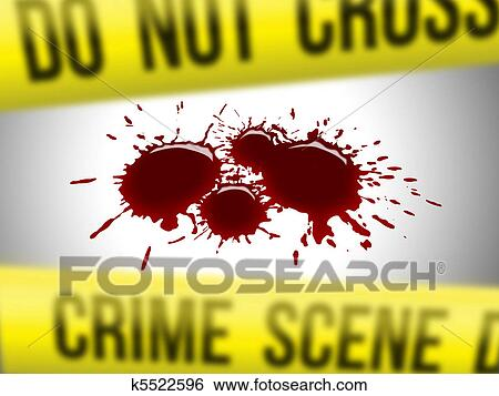 Stock illustration of crime scene 3 k5522596 search clip for Blood in blood out mural location