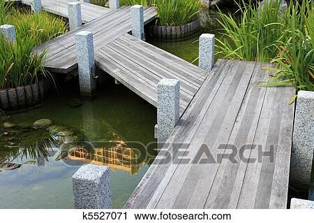 banques de photographies chemin bois dans jardin japonais dans monaco europe k5527071. Black Bedroom Furniture Sets. Home Design Ideas