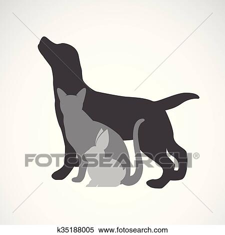 clipart of vector group of pets dog cat rabbit isolated on rh fotosearch com Pet Shop Clip Art Pets at Home Clip Art