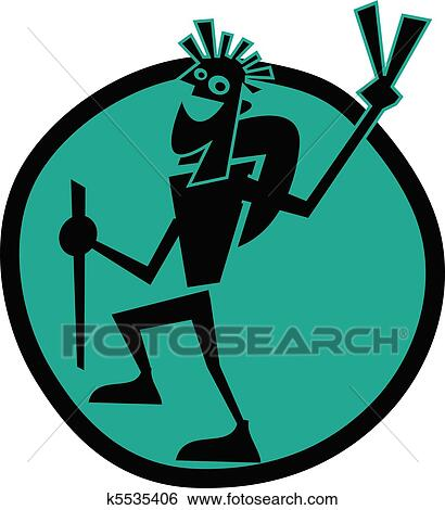 clip art of guy backpacking or hiking clip art k5535406 search rh fotosearch com hiking clipart free hiking clipart png