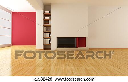 Archivio illustrazioni vuoto soggiorno con for Soggiorno minimalista