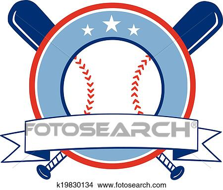 Clipart of Baseball Banner k19830134 - Search Clip Art ...