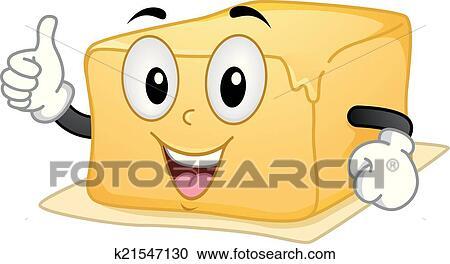 Clipart of Butter Mascot k21547130 - Search Clip Art, Illustration ...