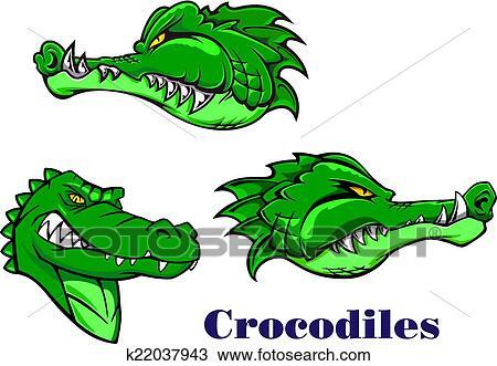 Clipart dessin anim crocodile et alligators - Image crocodile dessin ...