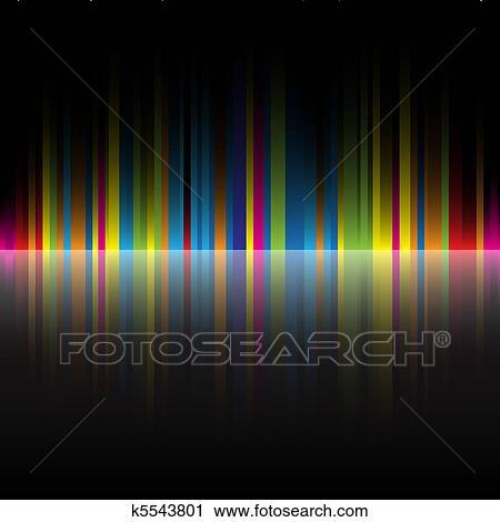 Clipart astratto colori arcobaleno sfondo nero - Arcobaleno a colori e stampa ...