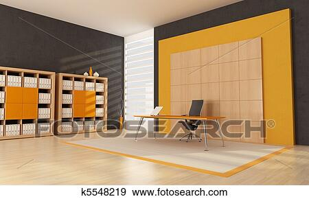 banque d 39 illustrations orange espace bureau k5548219 recherche de cliparts vecteuris s de. Black Bedroom Furniture Sets. Home Design Ideas